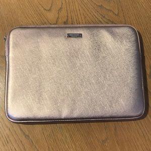 Kate Spade Rose Gold Laptop Sleeve